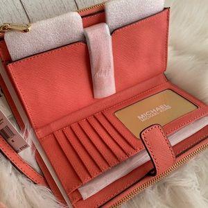 Beautiful MK double zipper wallet